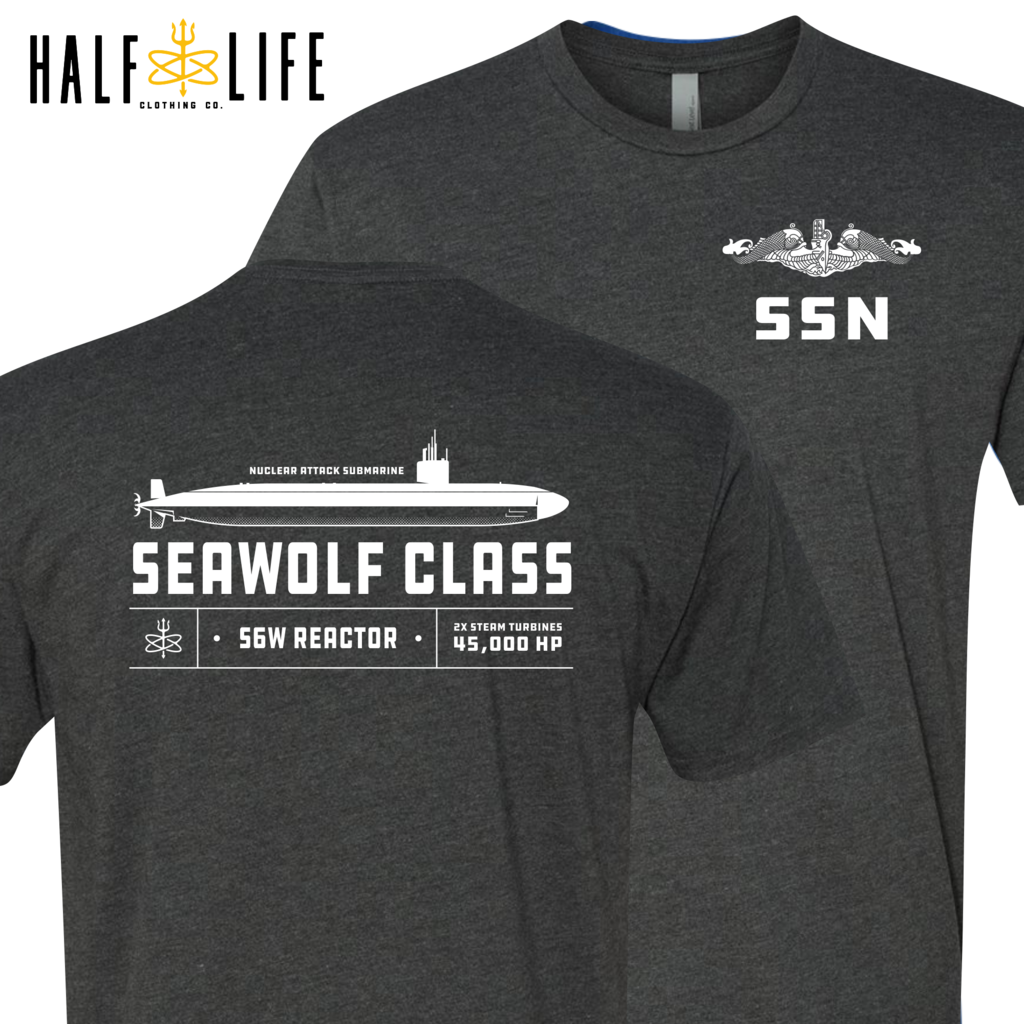 Seawolf Class Nuclear Powered Submarine t-shirts, hoodies, clothing, mub