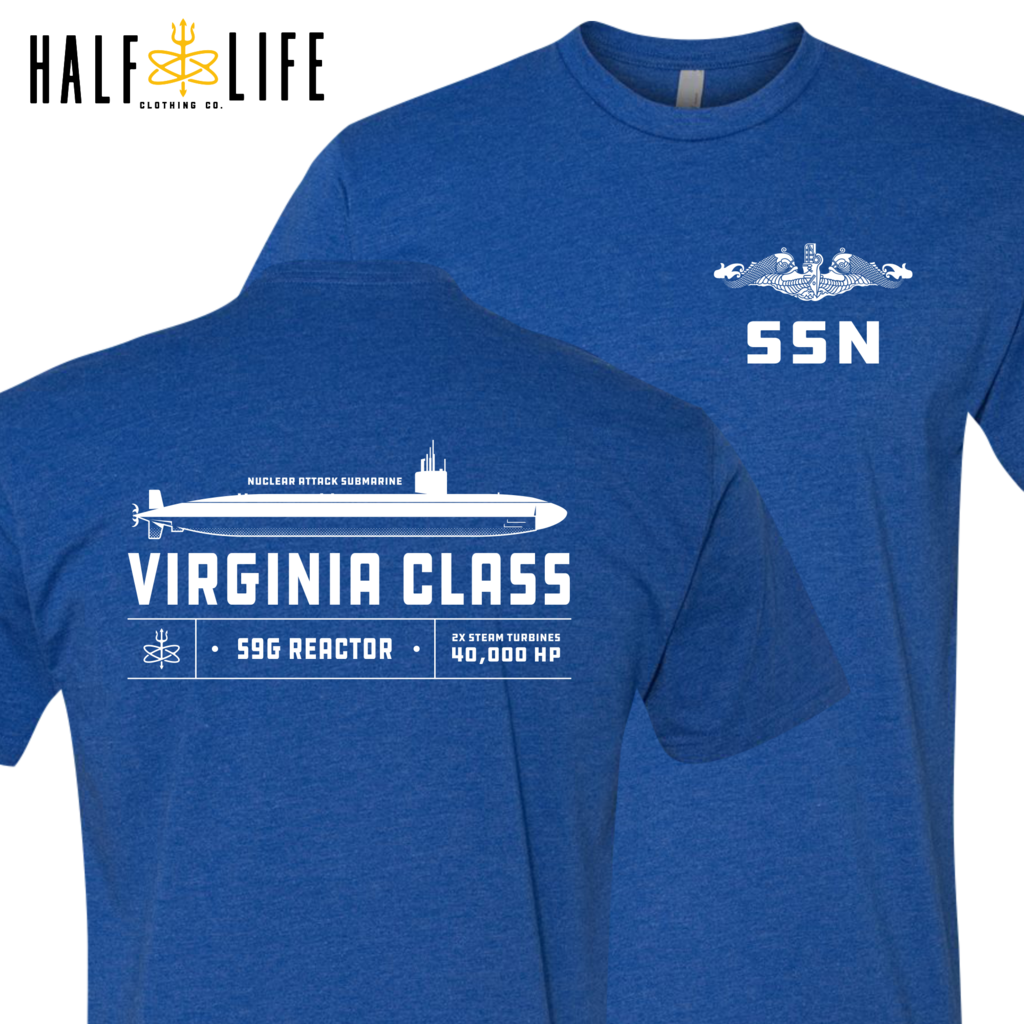 Virginia Class Nuclear Powered Submarine t-shirts, hoodies, clothing, mugs