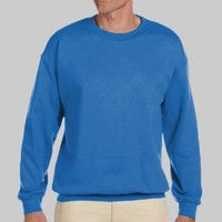 Adult Heavy Blend Heather Royal or Red 60/40 Fleece Crew (S) Thumbnail