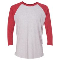 (S) Unisex Tri-Blend Three-Quarter Sleeve Baseball Raglan Tee Thumbnail