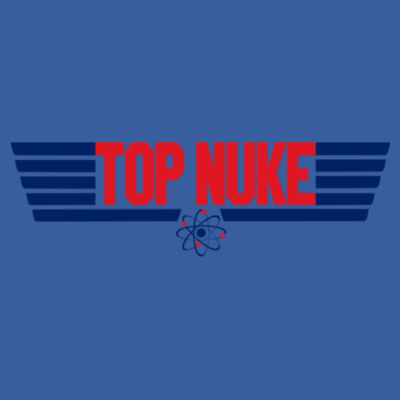 Top Nuke - (S) Adult 5.5 oz Cotton Poly (35/65) T-Shirt Design