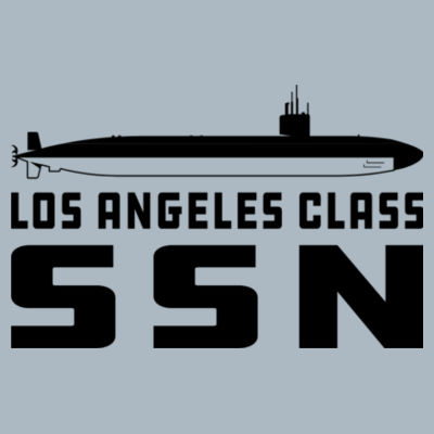 Los Angeles Class Attack Submarine - JAmerica Ladies Poly Fleece Striped Pullover Hoodie Design