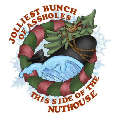 USS Griswold Jolliest Bunch of Assholes this side of the Nuthouse - Light Long Sleeve Ultra Performance Active Lifestyle T Shirt Design