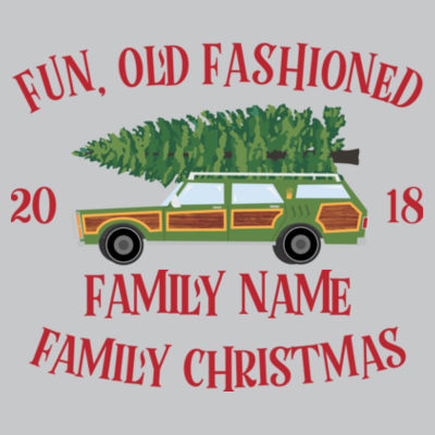 Fun, Old Fashioned Family Christmas  - Light Youth/Adult Ultra Performance Active Lifestyle T Shirt Design