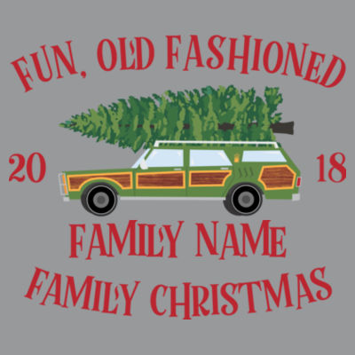Fun, Old Fashioned Family Christmas  - Light Ladies Ultra Performance Active Lifestyle T Shirt Design