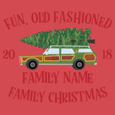 Fun, Old Fashioned Family Christmas  - (S) Unisex Tri-Blend Three-Quarter Sleeve Baseball Raglan Tee Design