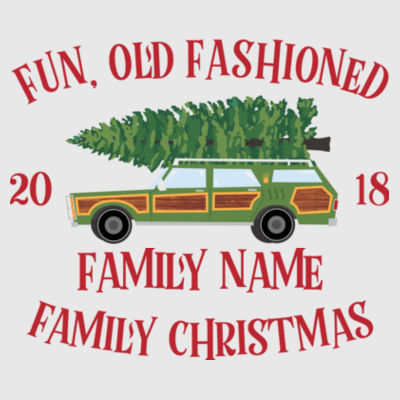 Fun, Old Fashioned Family Christmas  - Adult 3/4-Sleeve Baseball Jersey (S) Design