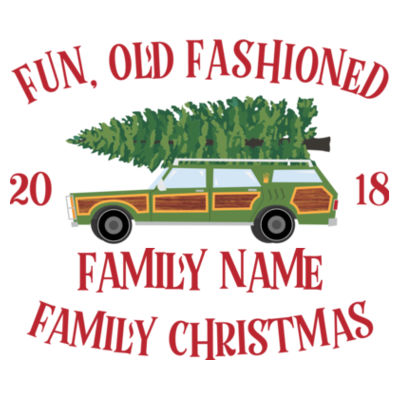Fun, Old Fashioned Family Christmas  - American Apparel Unisex T-Shirt Design