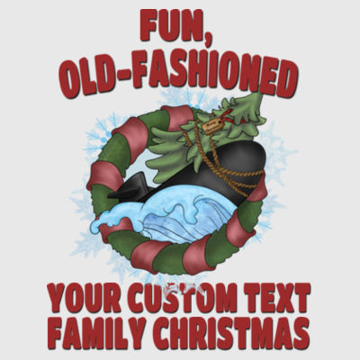USS Griswold Fun, Old-Fashioned Christmas  - Adult 3/4-Sleeve Baseball Jersey (S) Design