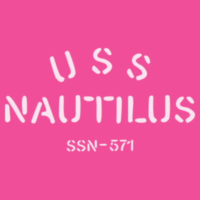 USS Nautilus - Underway on Nuclear Power - Ladies' Lightweight Long-Sleeve Hooded T-Shirt Design