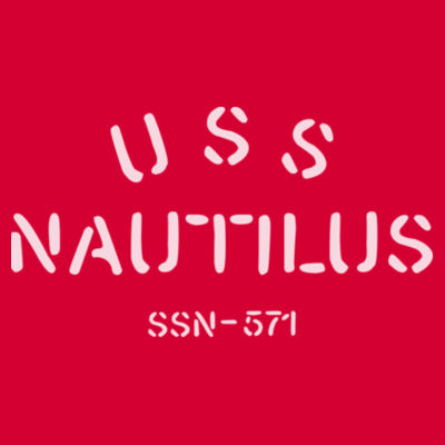 USS Nautilus - Underway on Nuclear Power - DryBlend™ 50 Cotton/50 DryBlend™Poly T Shirt Design