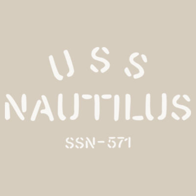 USS Nautilus - Underway on Nuclear Power - Striped Poly Fleece Hooded Pullover Sweatshirt Design