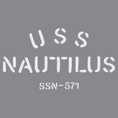 USS Nautilus - Underway on Nuclear Power - Men's Triblend Long-Sleeve Henley Design