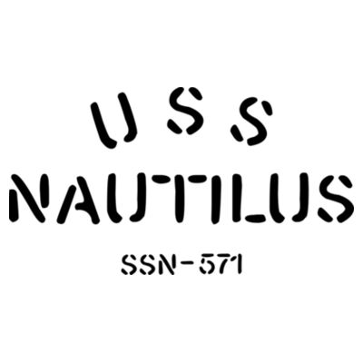 USS Nautilus - Underway on Nuclear Power - Men's Poly/Cotton Short-Sleeve Crew Tee Design