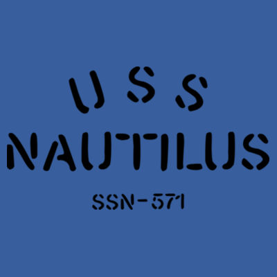USS Nautilus - Underway on Nuclear Power - (S) Adult 5.5 oz Cotton Poly (35/65) T-Shirt Design
