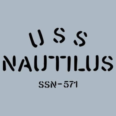 USS Nautilus - Underway on Nuclear Power - JAmerica Ladies Poly Fleece Striped Pullover Hoodie Design