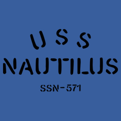 USS Nautilus - Underway on Nuclear Power - Adult Heavy Blend Heather Royal or Red 60/40 Fleece Crew (S) Design