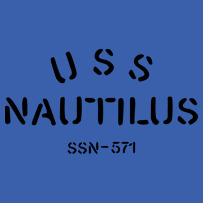 USS Nautilus - Underway on Nuclear Power - Adult Lightweight Long-Sleeve Hooded T-Shirt Design