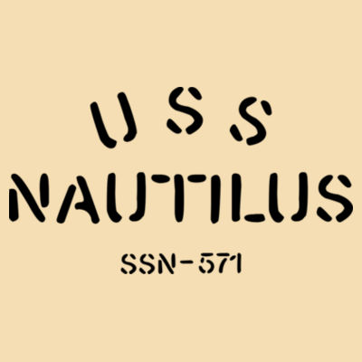 USS Nautilus - Underway on Nuclear Power - Natural Wood Benelux Christmas Ornament Design