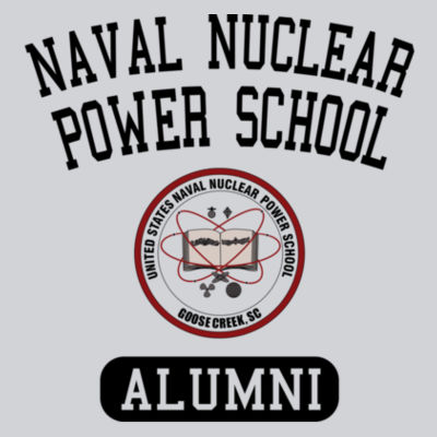 Naval Nuclear Power School Goose Creek, SC Alumni (Vertical) - Adult Shadow Tonal Heather Short-Sleeve Training T-Shirt Design