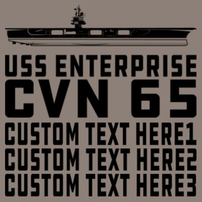 Personalized USS Enterprise with '82-2012 Island - (S) Unisex Tri-Blend Three-Quarter Sleeve Baseball Raglan Tee Design