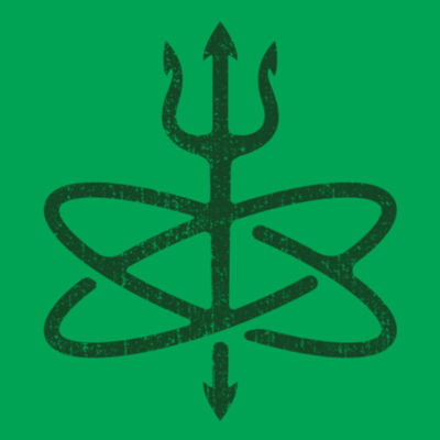 St. Patrick's Day Four Leaf Atomic Trident of Poseidon - Lightweight T-Shirt Design