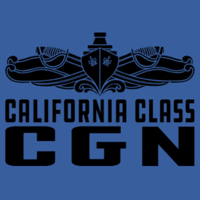 California Class Cruiser (SW) - (S) Adult 5.5 oz Cotton Poly (35/65) T-Shirt Design