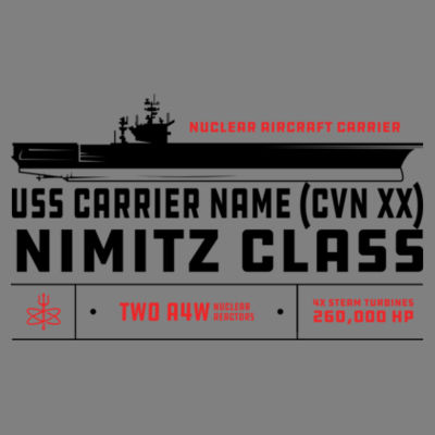 Nimitz Class Aircraft Carrier - Polar Camel 20 oz. Tall Stainless Steel Vacuum Insulated Tumbler Design