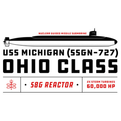 Ohio Class Guided Missile Submarine (SSGN) - Polar Camel 20 oz. Tall Stainless Steel Vacuum Insulated Tumbler Design