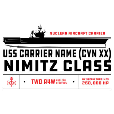 Custom Personalized Nimitz Class Carrier - Benelux Christmas Ornament (HLCC) Design