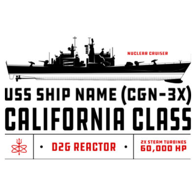 Custom personalized California Class Cruiser - Benelux Christmas Ornament (HLCC) Design