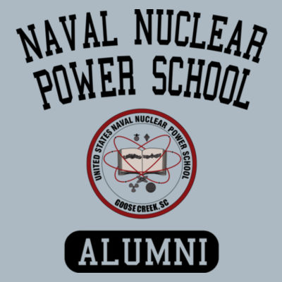 Naval Nuclear Power School Goose Creek, SC Alumni (Vertical) - JAmerica Ladies Poly Fleece Striped Pullover Hoodie Design