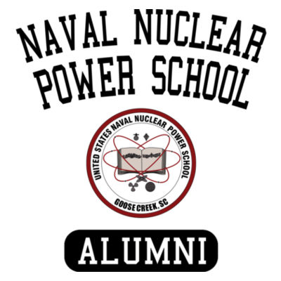 Naval Nuclear Power School Goose Creek, SC Alumni (Vertical) - Men's Poly/Cotton Short-Sleeve Crew Tee Design