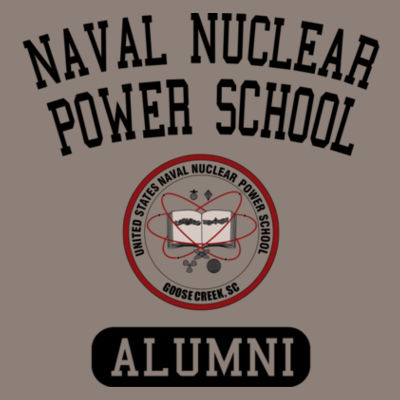 Naval Nuclear Power School Goose Creek, SC Alumni (Vertical) - (S) Unisex Tri-Blend Three-Quarter Sleeve Baseball Raglan Tee Design