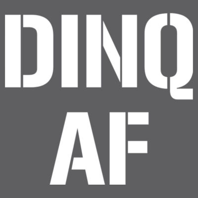 DINQ AF - Triblend Short Sleeve T-Shirt Design