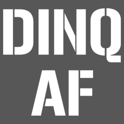 DINQ AF - Triblend V-Neck T-Shirt Design