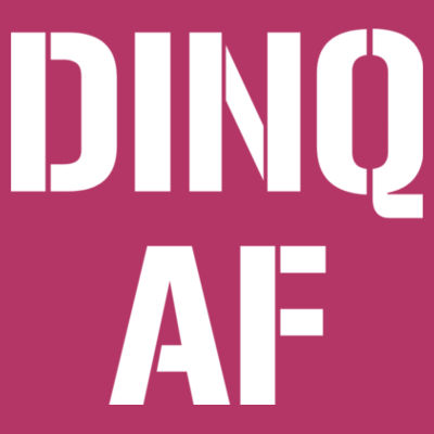 DINQ AF - LAT Ladies' Football Fine Jersey T-Shirt Design