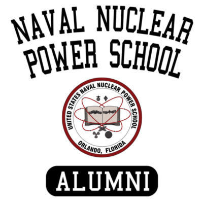 Naval Nuclear Power School Orlando Alumni (Vertical) - Adult Colorblock Cosmic Pullover Hood (S)  Design
