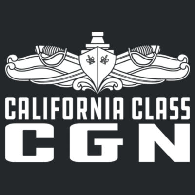 California Class Cruiser (SW) - DryBlend™ 50 Cotton/50 DryBlend™Poly T Shirt Design