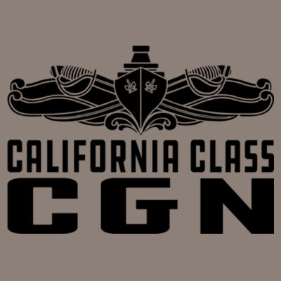 California Class Cruiser (SW) - (S) Unisex Tri-Blend Three-Quarter Sleeve Baseball Raglan Tee Design