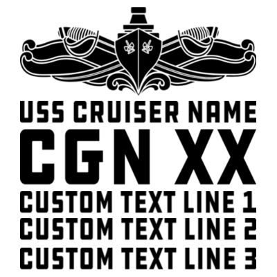 Personalized California Class Cruiser (SW) - Men's Poly/Cotton Short-Sleeve Crew Tee Design