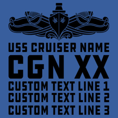 Personalized California Class Cruiser (SW) - (S) Adult 5.5 oz Cotton Poly (35/65) T-Shirt Design