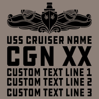 Personalized California Class Cruiser (SW) - (S) Unisex Tri-Blend Three-Quarter Sleeve Baseball Raglan Tee Design