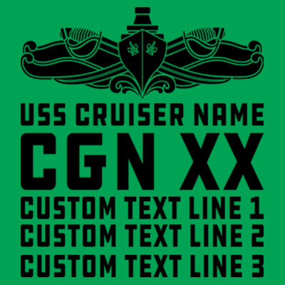Personalized California Class Cruiser (SW) - Lightweight T-Shirt Design