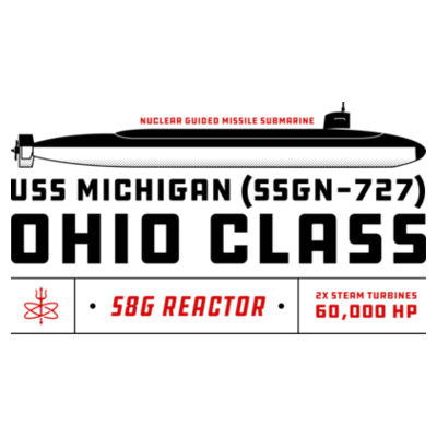 Ohio Class Guided Missile Submarine (SSGN) - 17 oz Stainless Steel Pint Glass (HLCC) 2 Design