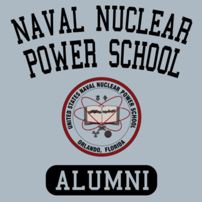 Naval Nuclear Power School Orlando Alumni (Vertical) - JAmerica Unisex Poly Fleece Striped Pullover Hoodie Design