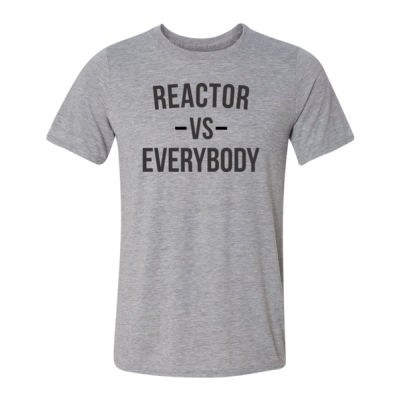 Reactor vs Everybody - Light Youth/Adult Ultra Performance Active Lifestyle T Shirt Thumbnail