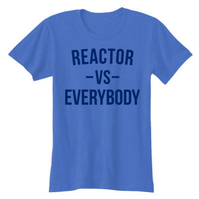 Reactor vs Everybody - Ladies' Softstyle® 4.5 oz. Fitted Heather Color T-Shirt Thumbnail