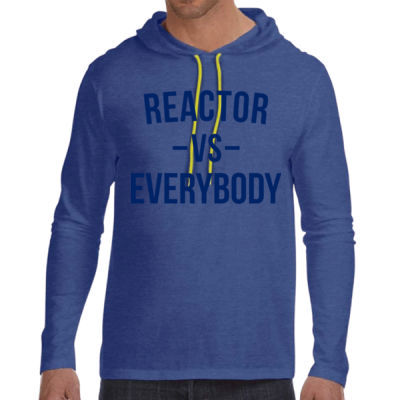 Reactor vs Everybody - Adult Lightweight Long-Sleeve Hooded T-Shirt Thumbnail