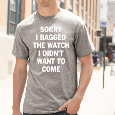 Sorry I Bagged the Watch I Didn't Want to Come - Unisex or Youth Ultra Cotton™ 100% Cotton T Shirt - Hammer Short Sleeve T-Shirt Thumbnail